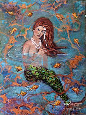 Mermaid Painting - Ophelia by Linda Queally