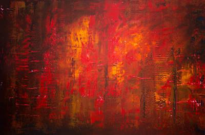 Derek Painting - Opt.47.15 Forest Fire by Derek Kaplan