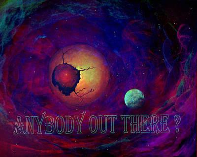 Optic Nerve Cosmic Vista  Print by Art By Ela