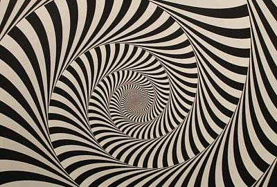 Optical Illusion Beige Swirl Print by Sumit Mehndiratta