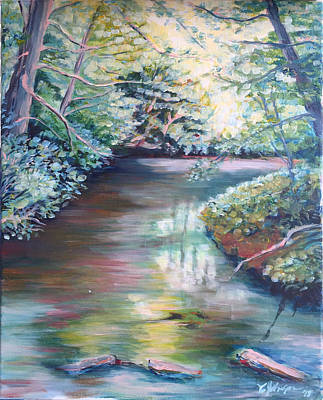 Franconia Notch Painting - Optimistic Serenity by Cheryl Louise Johnson