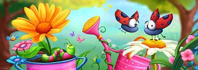 Ladybug Digital Art - Optimistic Zoom by Tooshtoosh