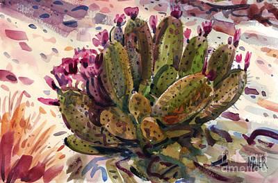 Opuntia Cactus Print by Donald Maier
