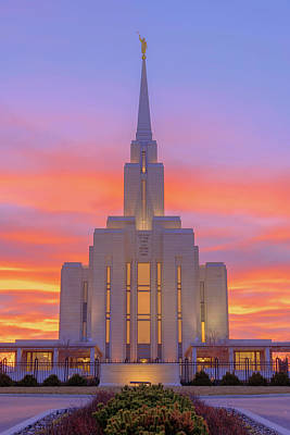Christ Photograph - Oquirrh Mountain Temple IIi by Chad Dutson