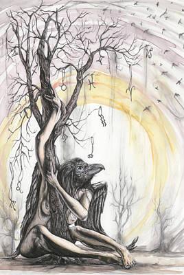 Mystical Women Mixed Media - Oracle Manor by Tai Taeoalii
