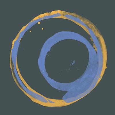 Painting - Orange And Blue 3 by Julie Niemela