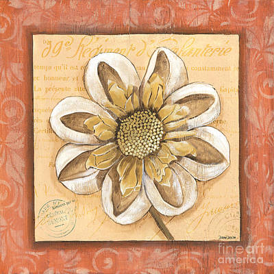 Orange Bohemian Dahlia 2 Print by Debbie DeWitt