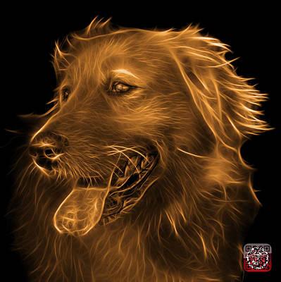 Dog Digital Art - Orange Golden Retriever - 4057 Bb by James Ahn