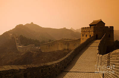 Orange Haze Over Great Wall Print by Gloria & Richard Maschmeyer - Printscapes