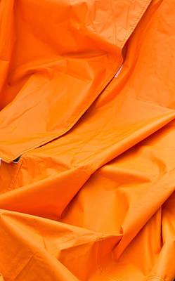 Orange Material Print by Tom Gowanlock