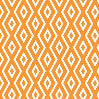 Orange Pattern Print by Christina Rollo