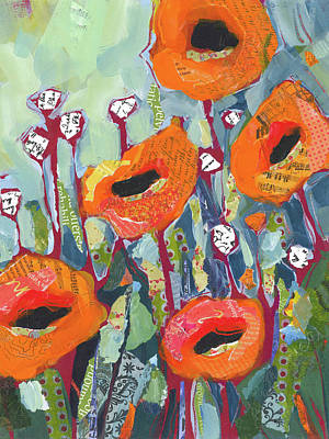 Orange Poppies Original by Shelli Walters