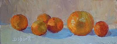 Orange Roll Print by Donna Shortt