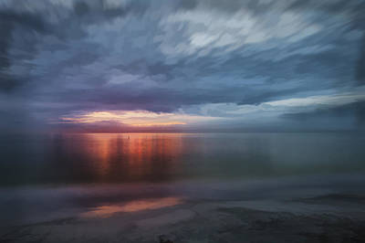 Coastal Digital Art - Orange Shore Iv by Jon Glaser