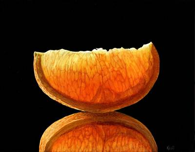 Orange Slice Print by Sue Kroll