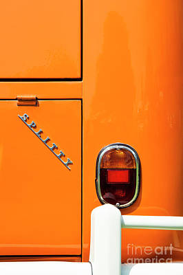 Orange Splitty Print by Tim Gainey
