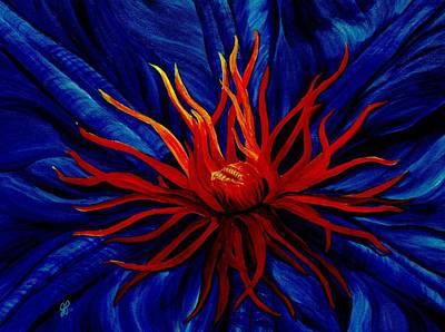 Orange Tango Print by Julie Pflanzer