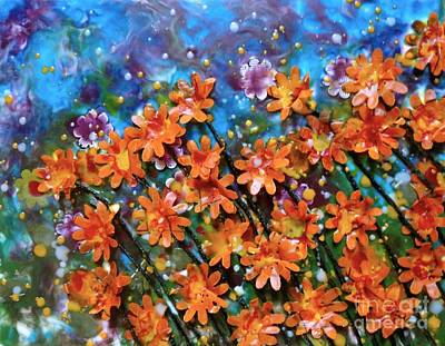 Encaustic Painting - Orange You Sweet by Amy Stielstra