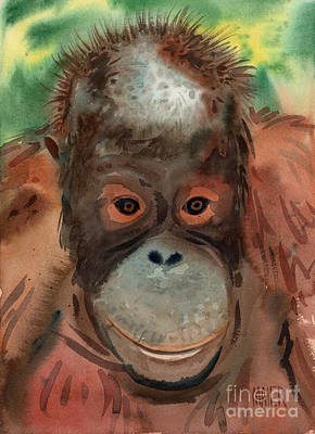 Orangutan Print by Donald Maier