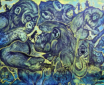 Orangutan Mixed Media - Orangutan  Maddess by Ottoniel Lima