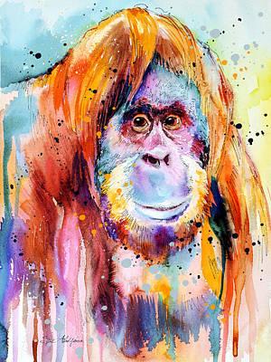 Orangutan Mixed Media - Orangutan  by Slavi Aladjova