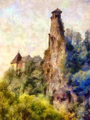 Orava Castle - Rear Side Print by Peter Kupcik