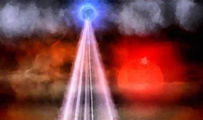 Strange Days Painting - Orb Of Light by Raphael Terra