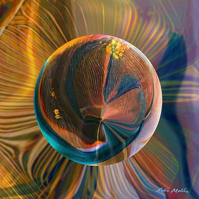 Orbing Good Vibrations Print by Robin Moline