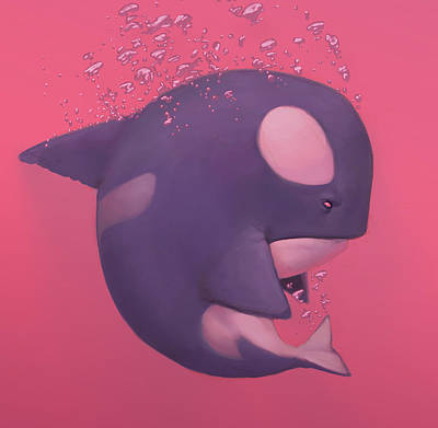 Orca Painting - Orca by Adam Ford