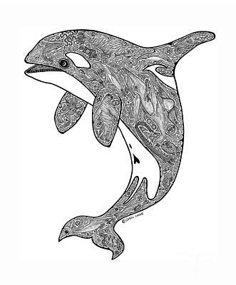 Orca Drawing - Orca by Carol Lynne