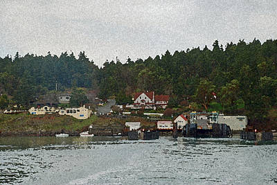 Orcas Island Dock Print by Carol  Eliassen