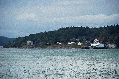 Orcas Island View  Print by Carol  Eliassen