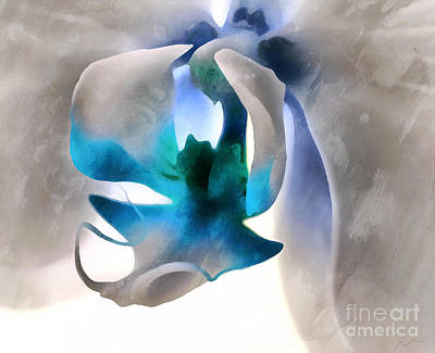 Blue Flowers Photograph - Orchid Of Hope by Krissy Katsimbras