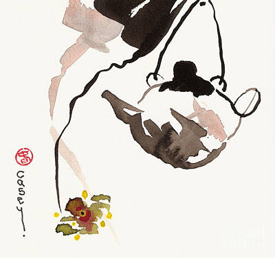 Sumi Painting - Orchid Tea by Casey Shannon