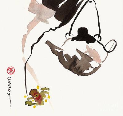 Tea Pot Painting - Orchid Tea by Casey Shannon