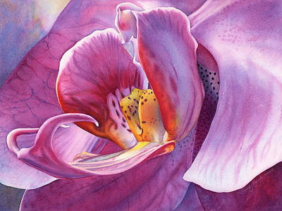 Moth Orchid Painting - Orchidaceous by Sandy Haight