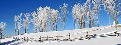 Ore Knob In Snow Panorama Original by Alan Lenk