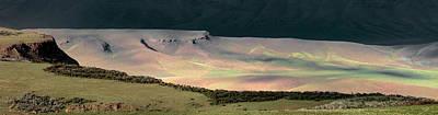 Light Photograph - Oregon Canyon Mountain Layers by Leland D Howard