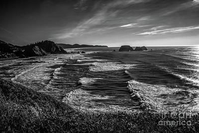 Oregon Coast At Sunset Print by Jon Burch Photography