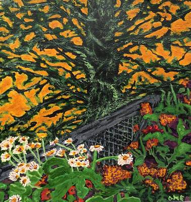 Sitka Painting - Oregon Coastal Garden - Sunset by Anne Marjorie Erickson