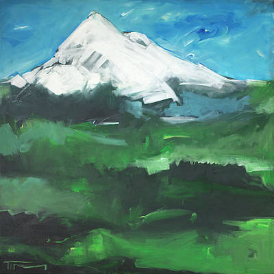 Painting - Oregon Triptych One - Mt. Hood by Tim Nyberg