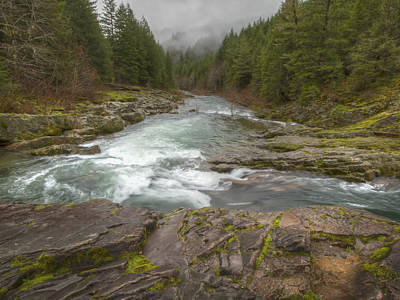 Oregon Umpqua River By Jean Noren Print by Jean Noren