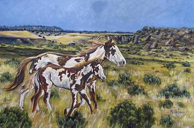 Pinto Painting - Oregon Wildies by Melody Perez