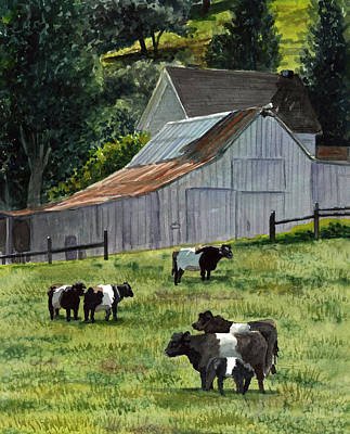 Oreo Painting - Oreo Cows In Napa by Gail Chandler