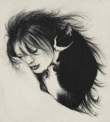 Companion Drawing - Oreo Dreams by Rachel Christine Nowicki