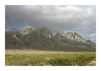 Organ Mountains Dec 25 2015 Print by Jack Pumphrey