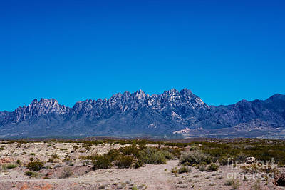 Organ Mountains Las Cruces New Mexico Print by Gabriel G Medina