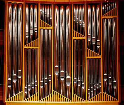 Brown Photograph - Organ Opus 76 - Philadelphia by Rona Black