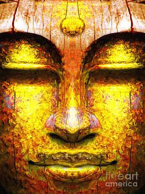 Organic Buddha Print by Khalil Houri