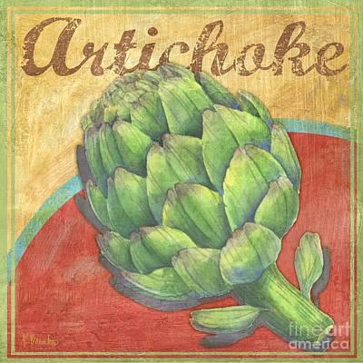 Artichoke Painting - Organic Garden I by Paul Brent
